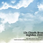 10 Photoshop Cloud Brushes