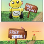 Free Hugs v.s. Free WIFI – How Will You Choose