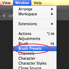 How to Install Brushes in Photoshop - Method 3