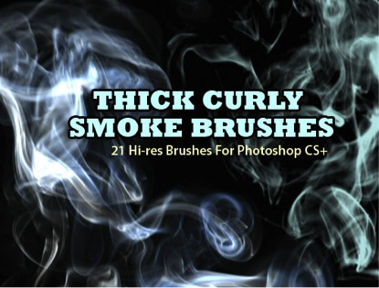 8-Thick Curly Smoke Brushes