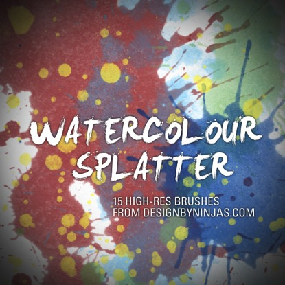 Watercolor Splatter