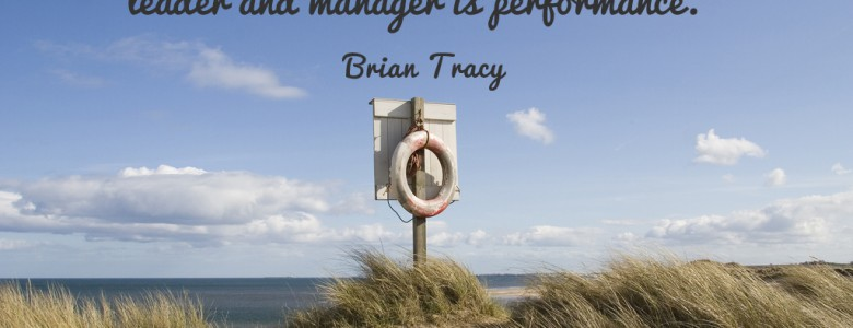 """The true measure of the value of any business leader and manager is performance."" - Brian Tracy"